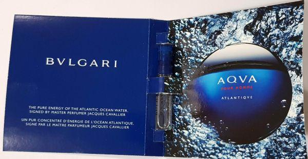 Amostra Perfume Importado Bvlgari Aqva Pour Homme Atlantiqve EDT 1,5ml