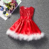 Vestido Natal Lantejoulas Cod 3624