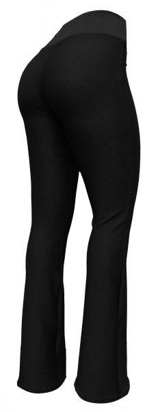 calça feminina preta (GG-46) ,flare ou reta, em tecido piquet colmeia preto