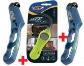 2 Acendedor Handy Bic + 1 Bic Flex Multiuso Lareiras Fogao
