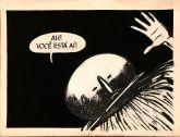 """23. Arte da HQ """"A alma que caiu do corpo/ O negócio do sertão"""" (original, 4ª capa)"""