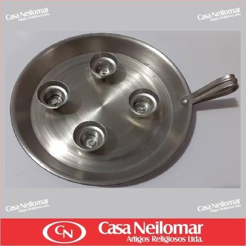 004005 - Castiçal de Alumínio para 4 velas