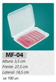 MF-04 BANDEJA ARTICULADA P/ FATIADOS C/ 100 UN.