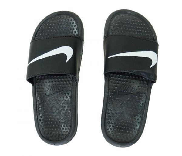e30fd58981b792 Chinelo Nike Slide Tira Larga Preto e Branco-mb - bijurelogios