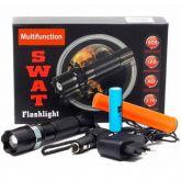 Lanterna Tática Led Swat com Red Sinalizador