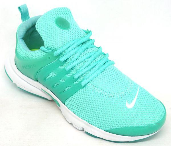 d74f6e8f118 Tênis Feminino Nike Air Presto Verde água e Branco - AGP Roupas e ...