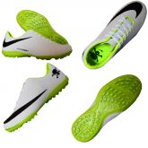 2835cdcd87996 Chuteira Society Nike Hypervenom Branco, Preto e Verde