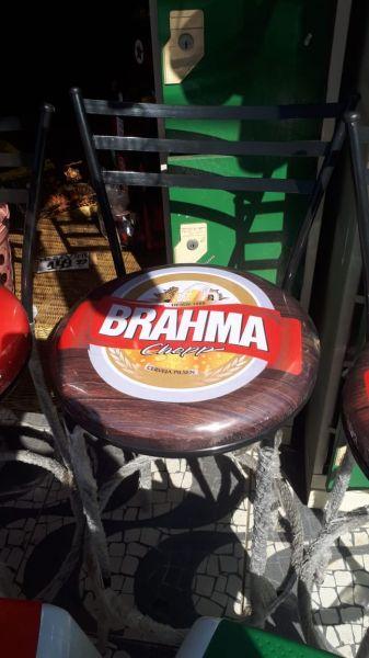 Banqueta Alta Itália C/ Assento Brahma Ideal P/ Bar Restaurante Cozinha