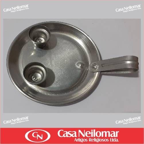 004003 - Castiçal de Alumínio para 2 velas