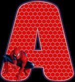 Alfabeto – Homem Aranha 4 – PNG