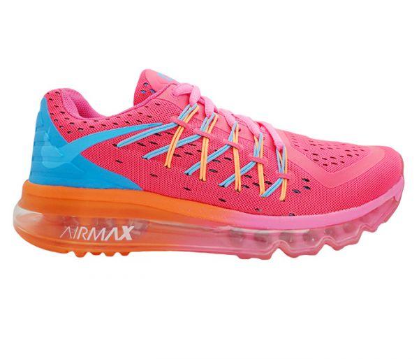 4039f842d0c Tênis Feminino Nike Air Max 2015 Rosa e Azul MOD13047 Lançamento 2015   Réplica