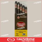 039050 - Charuto Titan Chocolate - Caixa com 5 unidades