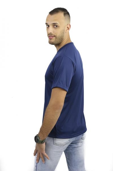 Camiseta Tradicional  Azul Marinho 100% Poliéster