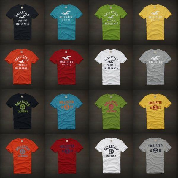 Camiseta Hollister kit 10 pçs