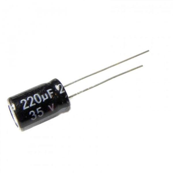 COD 056 - Capacitor Eletrolítico 220 uF 35V