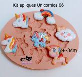Kit apliques unicornio - ( BL uni 06 )