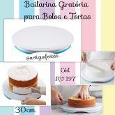 Bailarina Giratória para Bolos e Tortas (30cm)