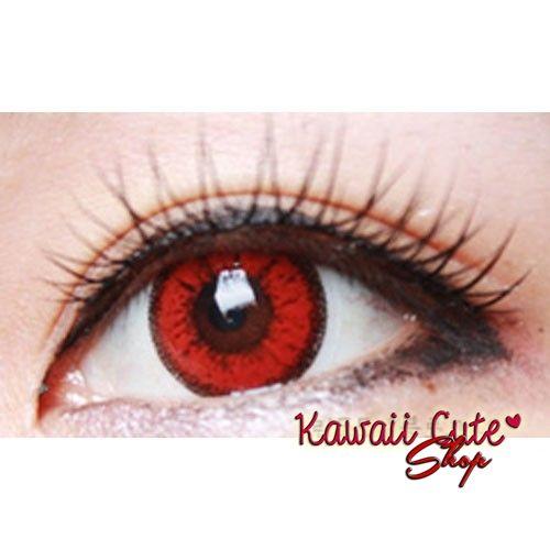 8be9708b8eb22 Lente de contato vermelha vivigo loja kawaiicute jpg 500x500 Lentes de contato  vermelhas