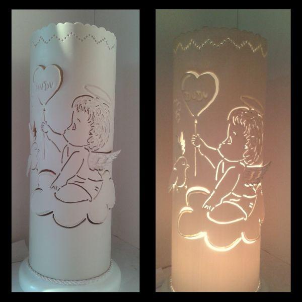 Artesanato Com Garrafa Pet Para Pascoa ~ Luminária PVC Anjo na Nuvem 3D066D TRA u00c7O DE LUZ