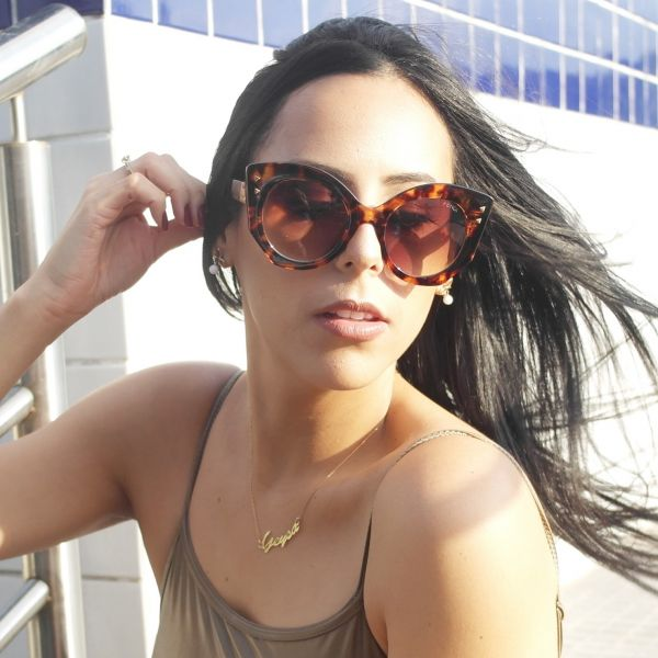 37640f7900c77 Óculos de sol feminino Fendi Gatinho Inspired - Daf Store