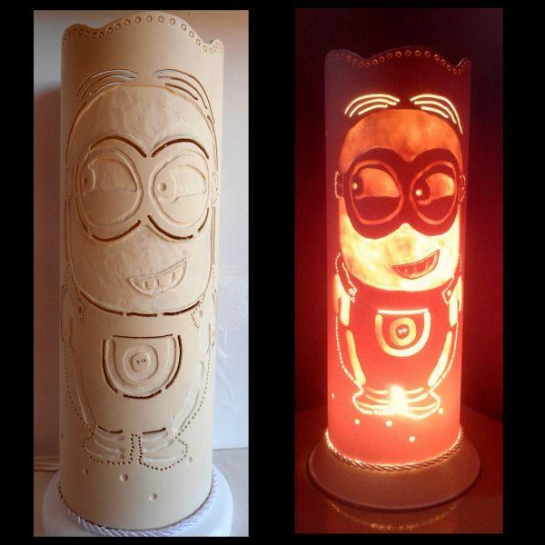 Artesanato Com Garrafa Pet Para Pascoa ~ Luminária em PVC Minions 001 TRA u00c7O DE LUZ LUMINÁRIAS E