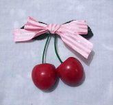 Presilha Pin Up Cherry Pink Stripes