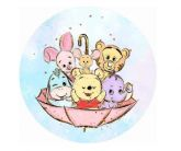 Papel Arroz Pooh Redondo 008 1un