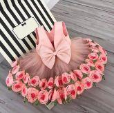 Vestido Rosas Festa Cód 145