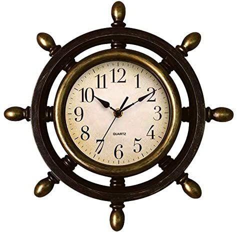 Leme Relógio de Parede Timão Painel Rústico - 33cm