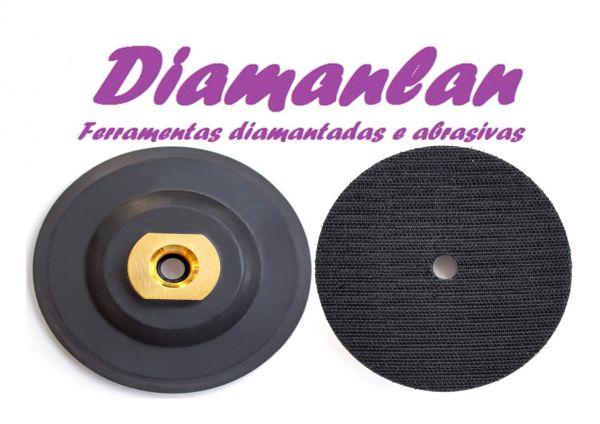 Disco Prato Emborrachado Velcro 100mm