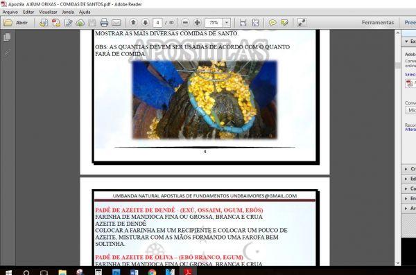 APOSTILA AJEUM ORIXÁ – COMIDAS DE SANTO (+120 receitas)