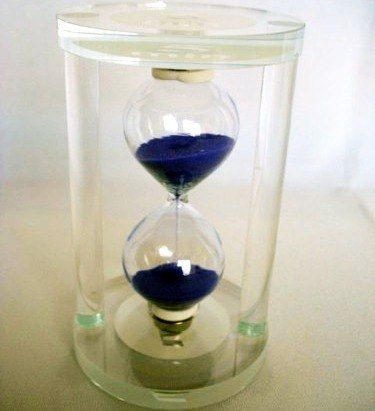 Ampulheta De 5 Minutos Transparente Translucida Vidro 12cm