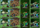 Papel Arroz Minecraft Lateral A4 009 1un