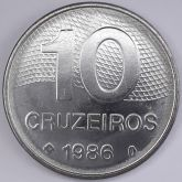 10 Cruzeiros 1986 SOB/FC