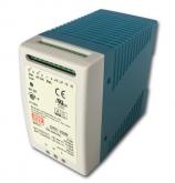 DRC-100B Fonte Chaveada Industrial 24V x 3,5A c/ Carregador de Bateria Mean Well