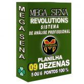 MEGA-SENA com 09 dezenas em 22 apostas 5 ou 6 pontos 100%