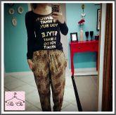 Calça estilo pijama (conforto total) Animal Print