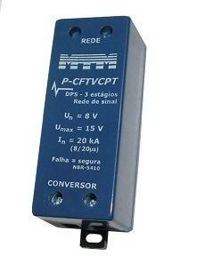 P-CFTVCPT Protetor Contra Surtos para CFTV (par trançado) 20kA