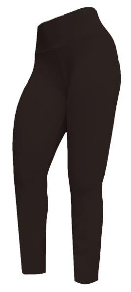 Legging marrom (60/62) em crepe de malha, cintura alta,gramatura média