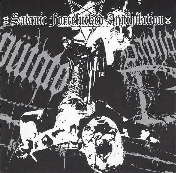 AMPUTATOR / BAPHOMET HORNS - Satanic Forcefucked Annihilation - CD (Split)