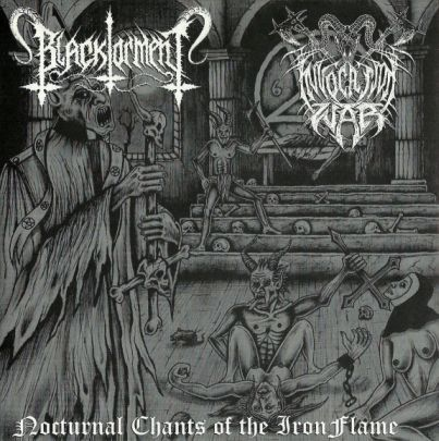 """Black Torment / Invocation War  - Nocturnal Chants of the Iron Flame - 7"""""""