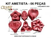 KIT ROSA AMETISTA COM 06 PEÇAS - lançamento 2020