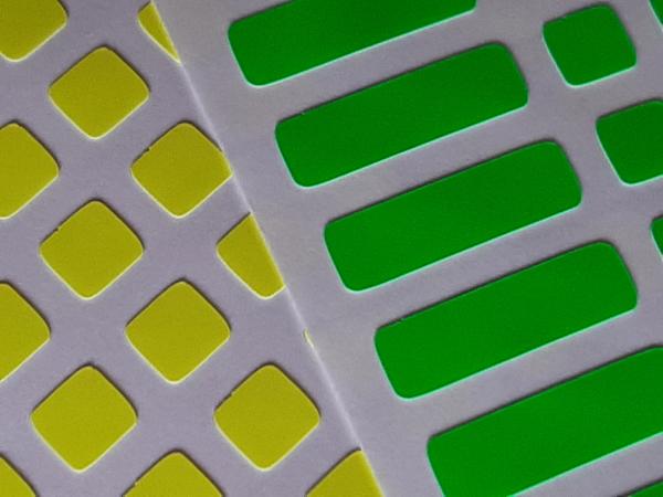 Adesivo 12x12 p/ o cubo Mofang Jiaoshi Meilong 93mm Cores Half Bright com adesivos extras