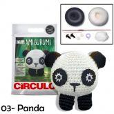 Kit Amigurumi - 03 - Panda