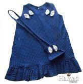 vestido infantil poá 04 anos, com bolsinha no mesmo tecido. Tecido algodão