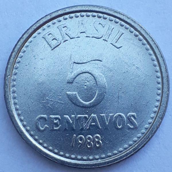 5 Centavos 1988 SOB/FC