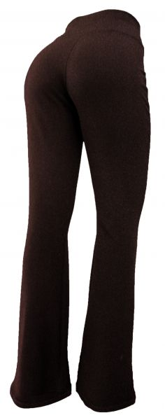 calça feminina marrom(GG-46), flare ou corte reto, tecido crepe de malha