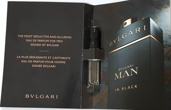 Amostra Perfume Importado Bvlgari Man In Black EDP 1,5ml