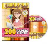 DVD 200 Papéis Digitais para Scrapbook Volume 2