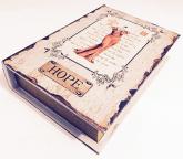 Livro Decorativo Madeira 32cm